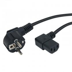 Cable d'alimentation secteur coude 1.20 m noir
