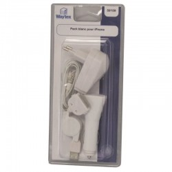 Pack blanc chargeur universel pour iPhone 3/4