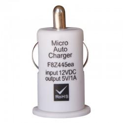 Mini chargeur USB sur prise allume cigare 1A