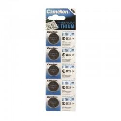 Piles bouton lithium 2025 3.0V 170 mAh lot de 5