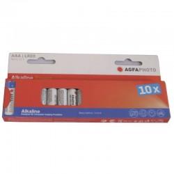 Piles LR3/AAA ALKALINE 1100 mAh 10 pieces