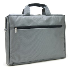"Sacoche pour PC portable 15.6"" gris en nylon"