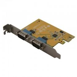Carte PCI Express 1x 2 ports serie Sunix 5437A