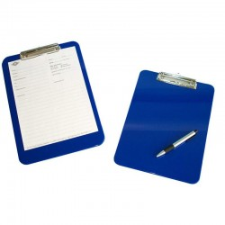 porte document rigide avec pince bleu