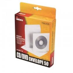 Pochette papier avec fenetre 1 CD/DVD pack 50