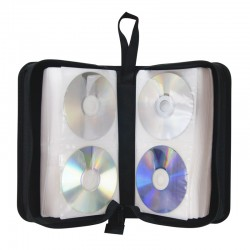Pochette CD transport zippee 128 CD