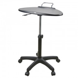 Table poste mobile assis/debout a roulettes