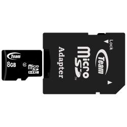 Carte microSDHC Class10 8 Go avec adaptateur SD