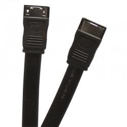 Cordon SATA 300 F/F noir 0.50m