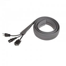 Gaine passe cables au sol