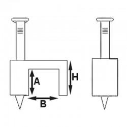 Clip de fixation a clou 10.00mm boite de 100
