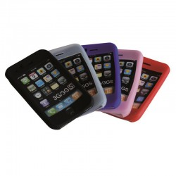 Coque silicone pour iPhone 3G-3GS couleur