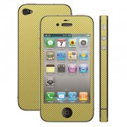 Film de protection pour iPhone 4 CARBONE OR