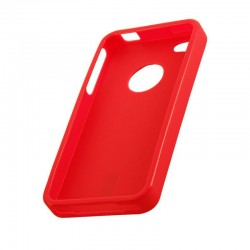 Coque housse silicone rouge pour iPhone 4S