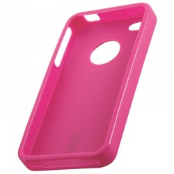 Coque housse silicone rose pour iPhone 4S