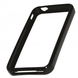 Coque bracelet silicone noir pour iPhone 4 4S