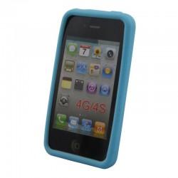 Coque silicone pour iPhone 4 4S Bleu clair