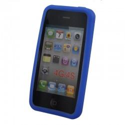 Coque silicone pour iPhone 4 4S Bleu Fonce