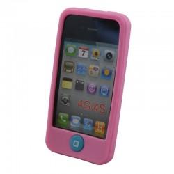 Coque silicone pour iPhone 4 4S Rose