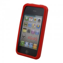 Coque silicone pour iPhone 4 4S Rouge