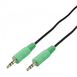 Cable audio stereo Jack 3.5mm male/male 1.50m