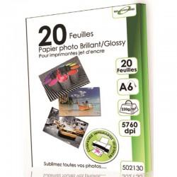 20 feuilles papier photo A6 glossery 220g