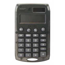 Calculatrice de poche 8 chiffres solaire/pile