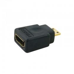 Adaptateur mini HDMI C male vers HDMI femelle