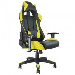 Fauteuil bureau baquet RACING noir et jaune