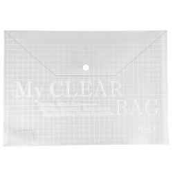 Pochettes rabat plastique transparent, SACHET 12