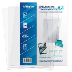 Couverture translucide PVC A4 paquet de 100