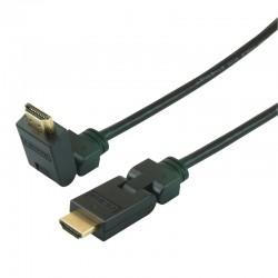 Cable HDMI 1.4 articule A/A connecteurs Or 1.50m