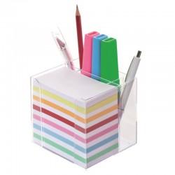 Bloc memo 700 feuilles couleurs et porte crayons