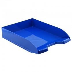 Corbeille courrier A4 empilable bleu