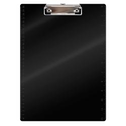 Plaque porte note plexi pince A4 225x310mm noire