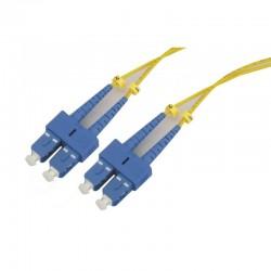 Jarretière optique monomode OS2 9/125 duplex Zipp jaune SC/SC 15.00m