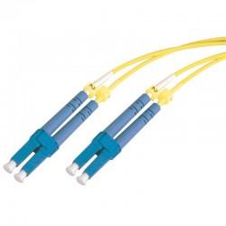 Jarretière optique monomode OS2 9/125 duplex Zipp jaune LC/LC 1.00m