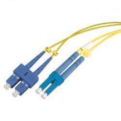 Jarretière optique monomode OS2 9/125 duplex Zipp jaune SC/LC 10.00m