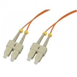 Jarretière optique multimode OM1 62.5/125 duplex Zipp orange SC/SC 2.00m
