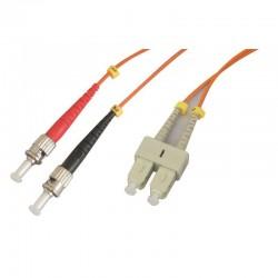 Jarretière optique multimode OM1 62.5/125 duplex Zipp orange ST/SC 1.00m