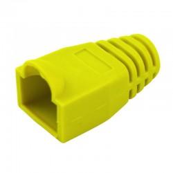 Manchon de protection souple pour connecteurs RJ45 jaune
