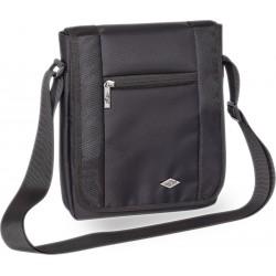Sacoche verticale noir multi compartiments dont tablette 23x5x28cm