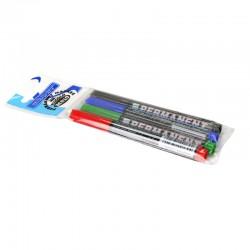 Marqueur permanent Lot de 4 Noir, Bleu, Rouge, Vert ogive 2 mm - suspendu