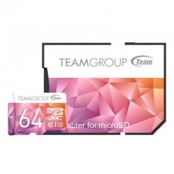 Carte mémoire microSDXC 64 Go UHS-I U3 class10 avec adaptateur Team Group