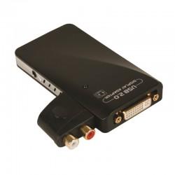 Convertisseur USB 2.0 a DVI HDMI HD15 et RCA