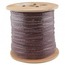 Jarretière téléphonique 2 fils cuivre bleu/rouge touret 1000m