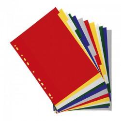 Intercalaires 12 touches couleurs en polypropylène 130 mic