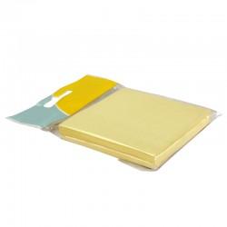 Bloc note repositionnable jaune 100 feuilles 75x75mm suspendu