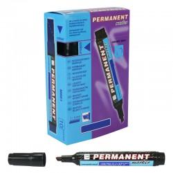 Marqueur permanent Noir pointe Biseautée 5 mm grand modèle BOITE DE 10