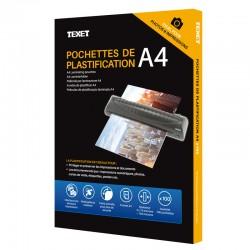 Feuilles de plastification A4 75 microns par face, 150µ total, boîte de 100